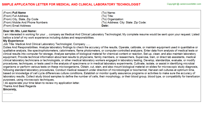 Clinical Attachment Application Letters