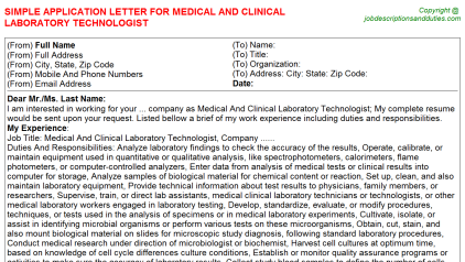 Cleveland Clinic Application Letters