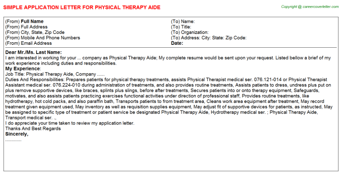 Occupational Therapy Aides Teacher Job Templates