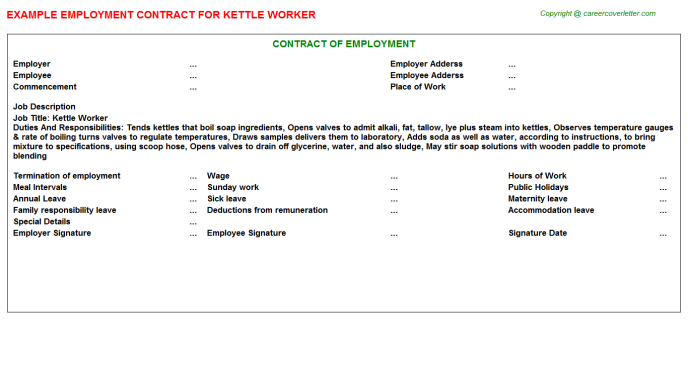 kettle worker employment contract template