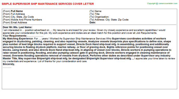 Environmental Services Aide Cover Letters | Job Cover Letters