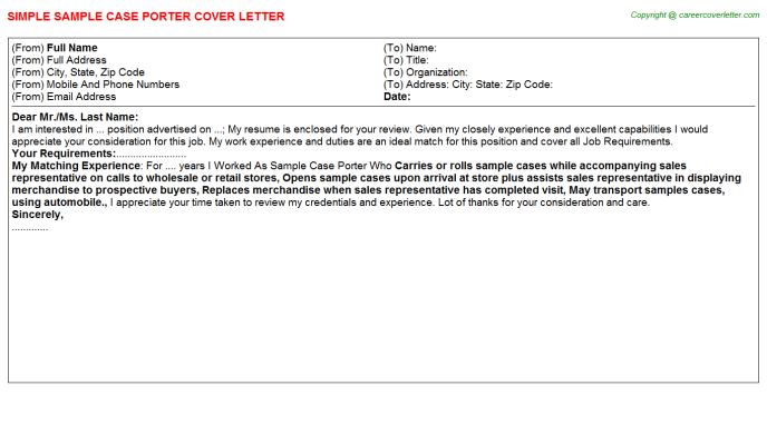 Foster Care Case Aide Job Cover Letters Examples