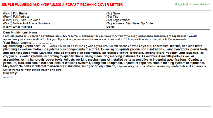 Covering letter for employment