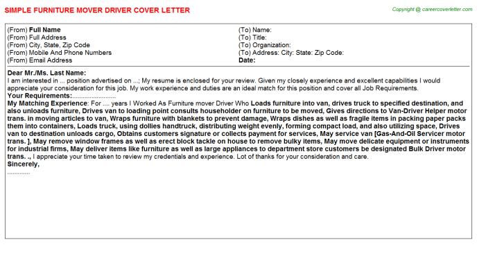 Airport Shuttle Driver Job Cover Letters Examples