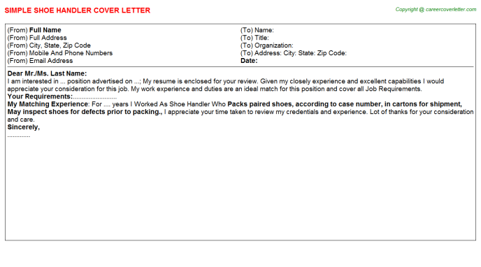 Casual Mail Handler Job Cover Letters Examples