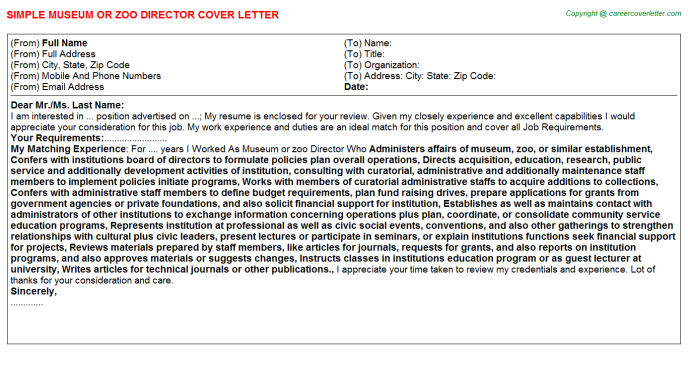 Cover Letter Museum Internship from files.jobdescriptionsandduties.com