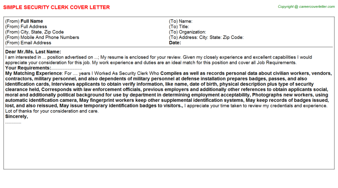 Cyber Security Internship Cover Letters