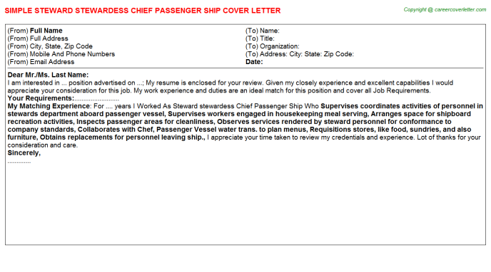 Ship Broker Cover Letters