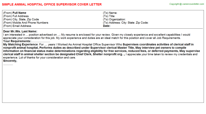 Hospital Cashier Cover Letters