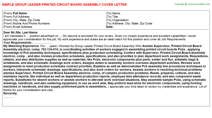 Activity Leader Cover Letters