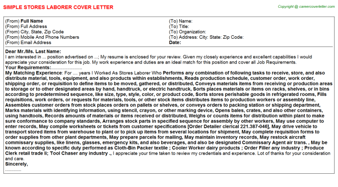 Target Store Cover Letters