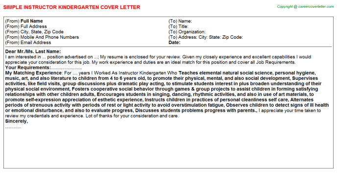 Ski And Snowboard Instructor Cover Letters