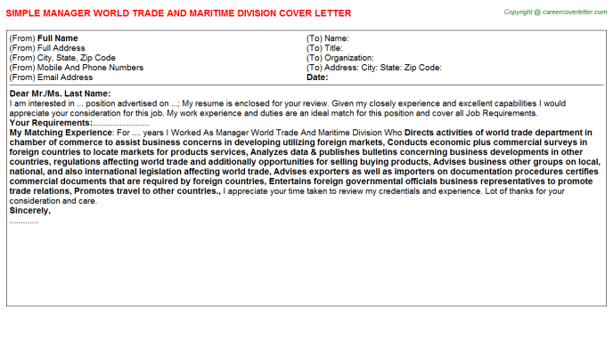 Compliance Trade Surveillance Job Cover Letters Examples