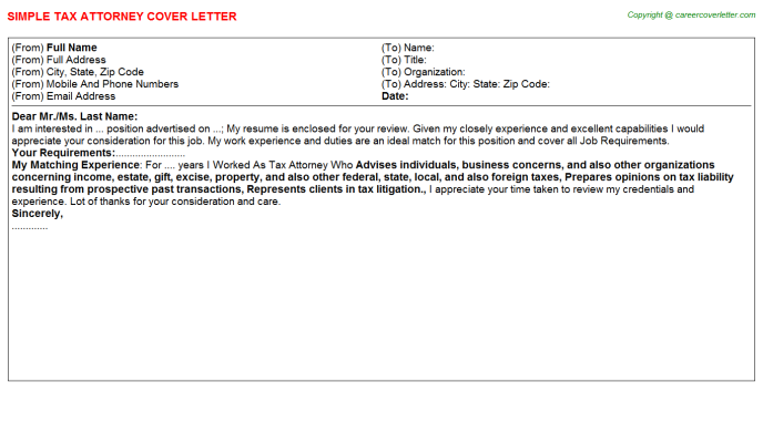 Transactional Attorney Cover Letters | Job Cover Letters