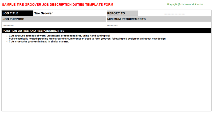 tire groover job description template
