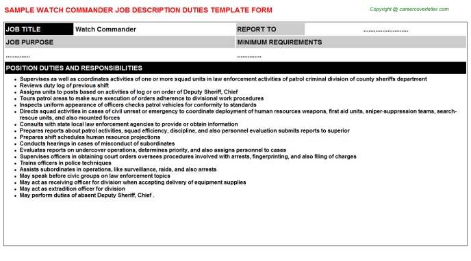 on sample of curriculum vitae for police officers