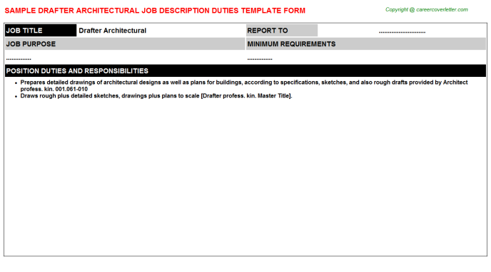 drafter architectural job description template