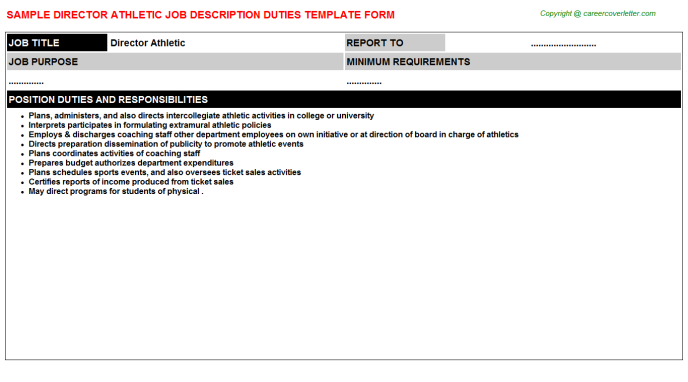 Director athletic career job description (#1145)