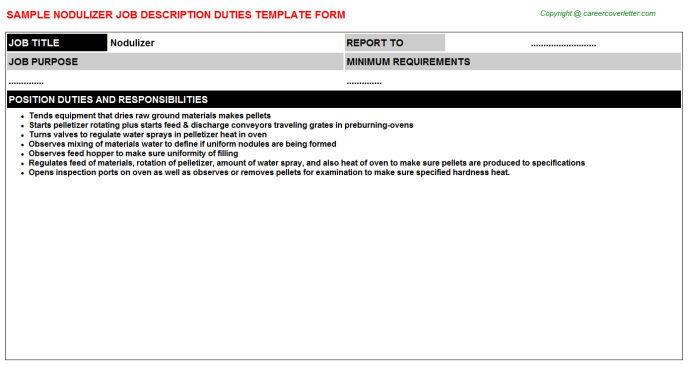Nodulizer Job Description Template