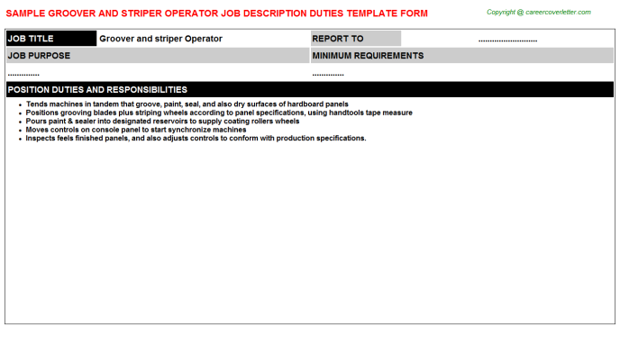groover and striper operator job description template