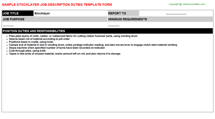 Stocklayer Job Description Template
