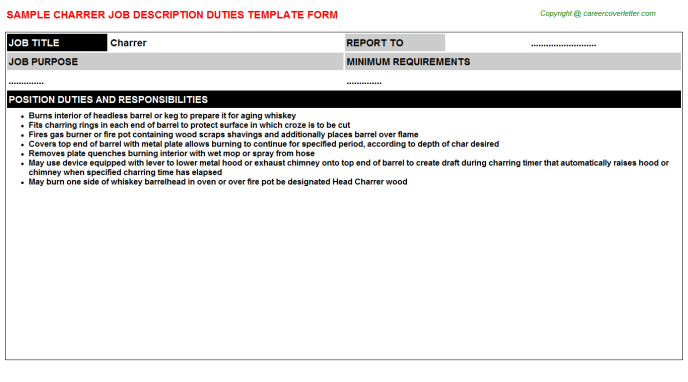 Charrer Job Description Template