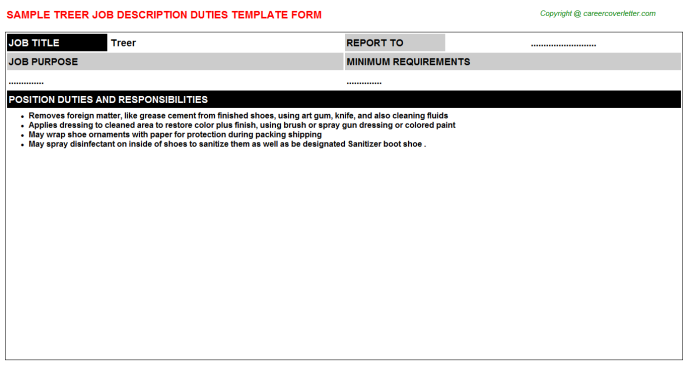 Treer Job Description Template