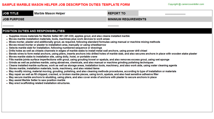 Mason Job Descriptions on job cv, job description, job vacancies, job people, job recommendation form, job experience, job career opportunities, job position template, job porfolio, job portfolio, job design, job training, job network, job offer letter, job works, job review, job duties, job career objective, job employment, job responsibilities template,