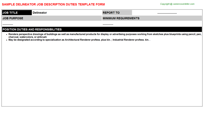 Delineator Job Description Template