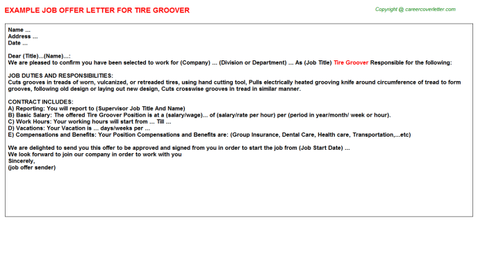 tire groover offer letter template