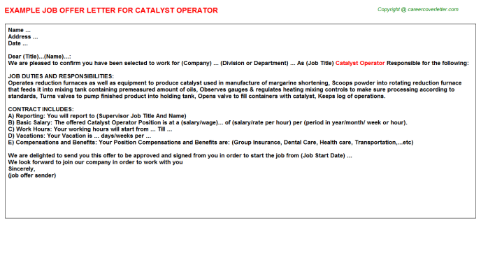 catalyst operator offer letter template