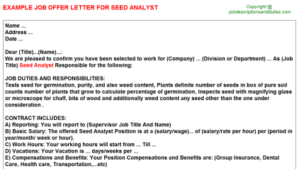 Mis Business Data Analyst Offer Letters