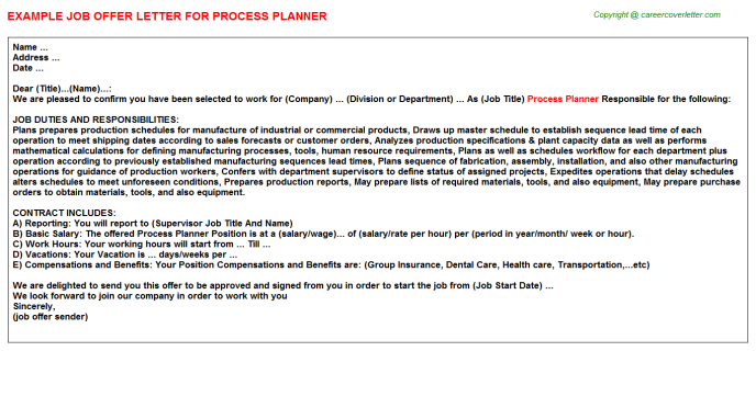 process planner offer letter template