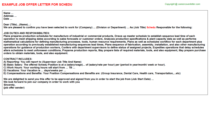 Schedu Offer Letter Template