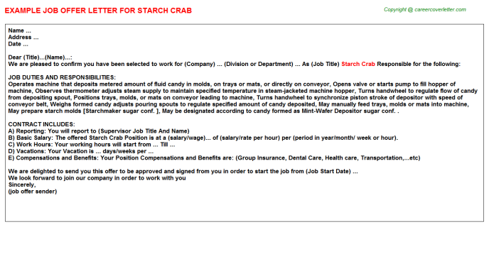 starch crab offer letter template