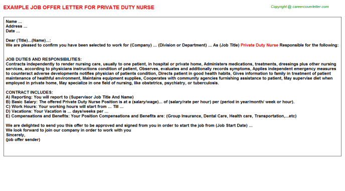 Private Duty Cna - Free Docs Templates Downloads