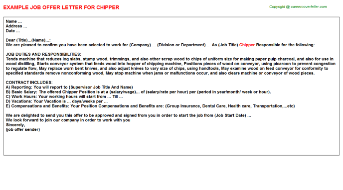 Chipper Offer Letter Template