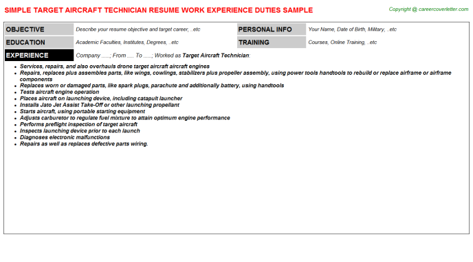 Ftth Quality Control Technician Resume Samples