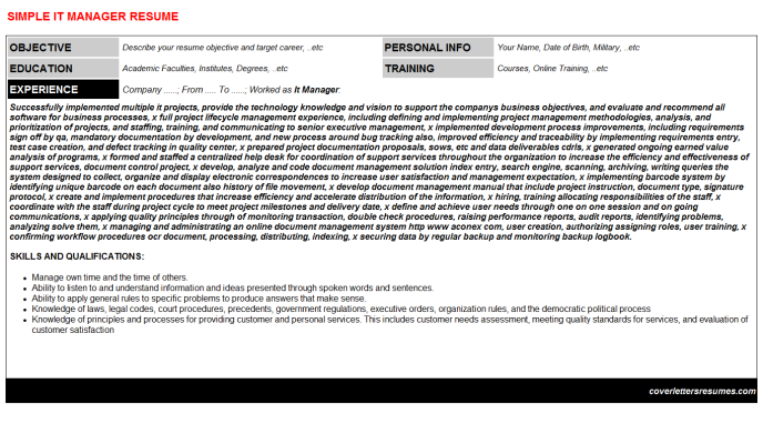 It Manager Resume Template (#32651)