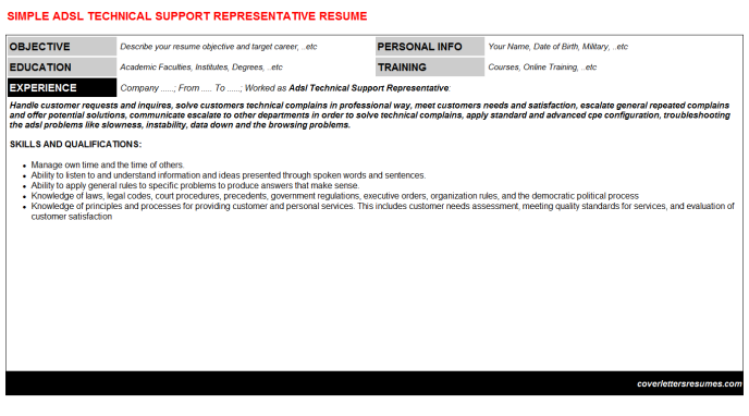 Technical Support Resume Template - Harunyahya.co