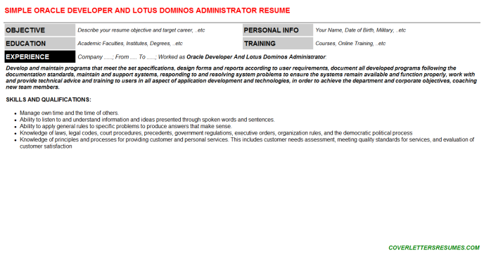 dominos cv letters  u0026 resumes