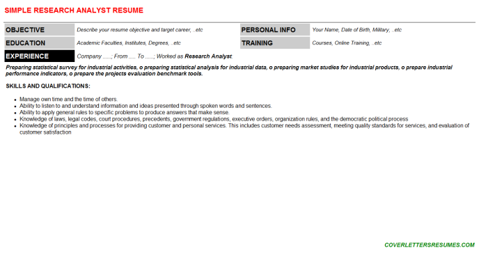 Research Analyst Resume Template (#137428)