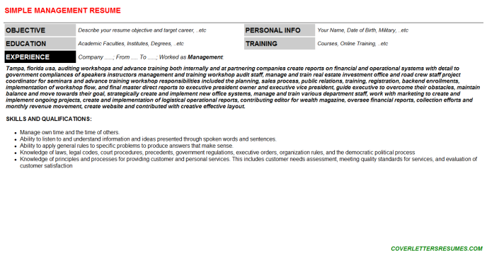 Management Resume Template (#97937)