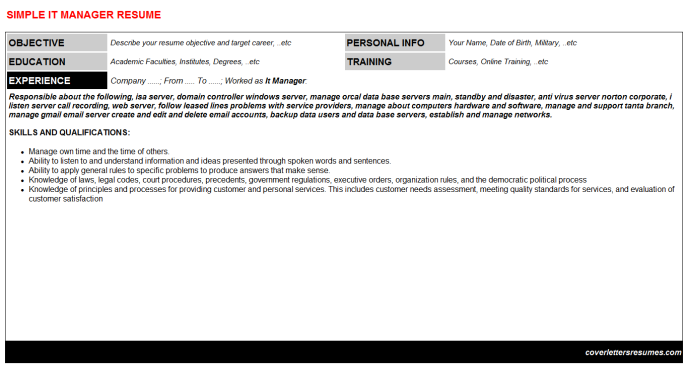 It Manager Resume Template (#39959)