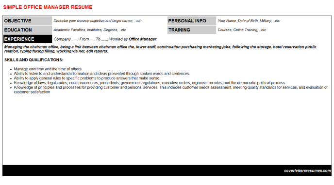 Office Manager Resume Template (#62)